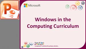 Windows in the computing curriculum